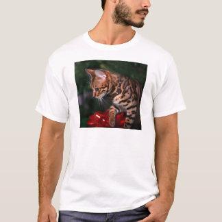 T-shirt Photo de Kitty de Noël (chat domestique du