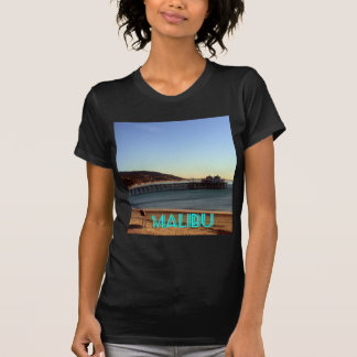 T-shirt Photo de pilier de Malibu et de plage de