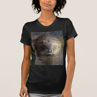 T-shirt Photo d'un coypu (coypus de Myocastor) dans l'eau