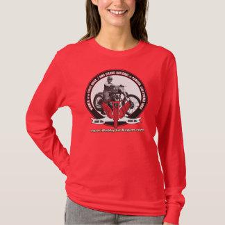 T-shirt Photo gainée rouge T des dames la longue