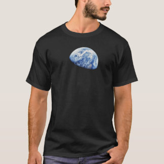 T-shirt Photo lunaire d'orbite de lune de la NASA Apollo 8