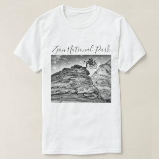T-shirt Photo noire et blanche d'arbre de bonsaïs de Zion