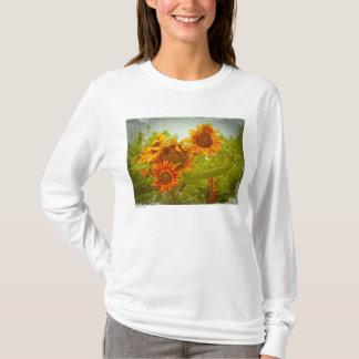 T-shirt Photo rouge T de tournesol