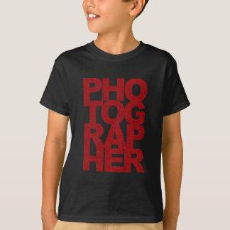 T-shirt Photographe - texte rouge