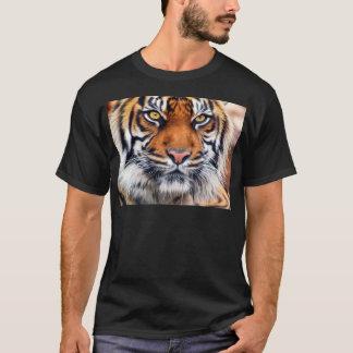 T-shirt Photographie masculine de peinture de tigre