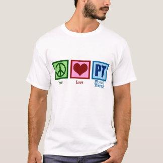 T-shirt Physiothérapeute d'amour de paix