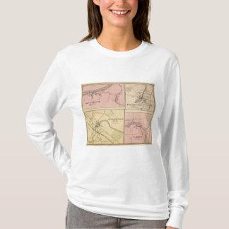 T-shirt Pi Fairfield, île de Presque, carte de caribou