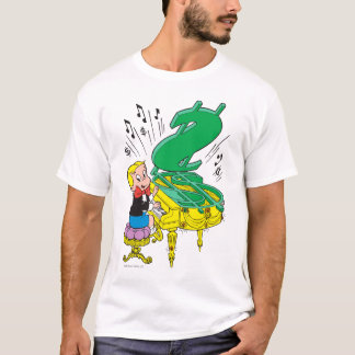 T-shirt Piano de jeu riche de Richie - couleur
