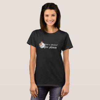 T-shirt PIckleball ou chocolat : Veuillez oui (les lettres