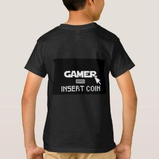 T-shirt Pièce de monnaie d'insertion de Gamer