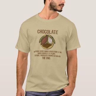 T-shirt PIÈCE EN T 001a (AVANT de SALADE de CHOCOLAT