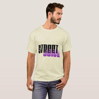 T-shirt Pièce en t 1 de logo de jus de rue