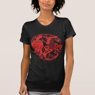 T-shirt Pièce en t 2017 de la femme B d'année de coq de