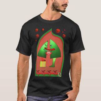 T-shirt Pièce en t 3 de baiser de Noël par Anjo LAfin