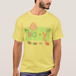 T-shirt Pièce en t adulte de bébé de pièce en t d'ab