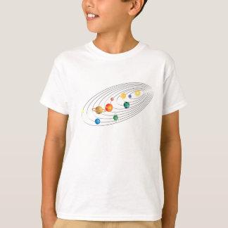 T-shirt Pièce en t adulte de l'espace de système solaire