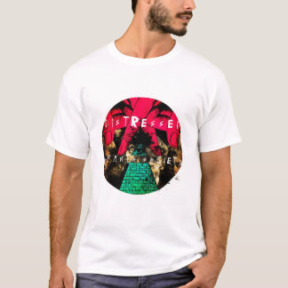 T-shirt Pièce en t affligée de société de nourrissons