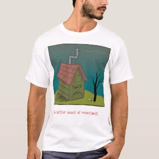 T-shirt pièce en t amère de logo de cabane