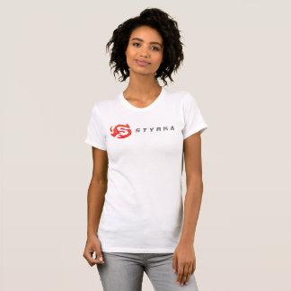 T-shirt Pièce en t américaine de logo d'habillement