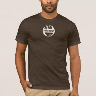 T-shirt Pièce en t américaine de logo du