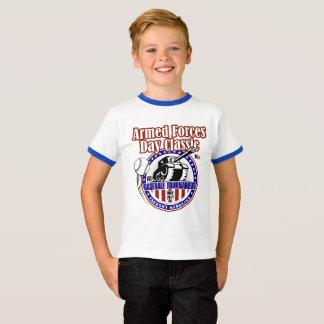 T-shirt Pièce en t baguée de cou de la jeunesse