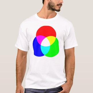 T-shirt Pièce en t bilatérale de RVB et de CYM