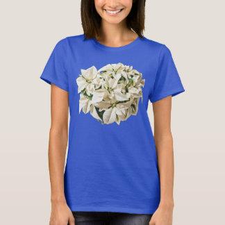 T-shirt Pièce en t blanche de poinsettias