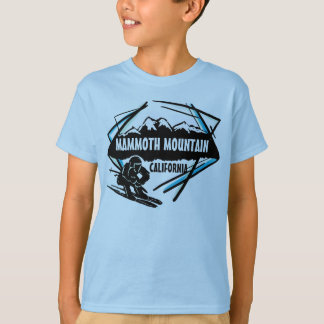 T-shirt Pièce en t bleue de garçons de ski de Mammoth