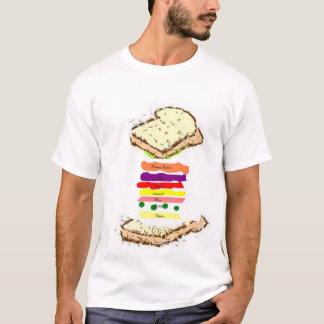 T-shirt pièce en t brute de club de nourritures