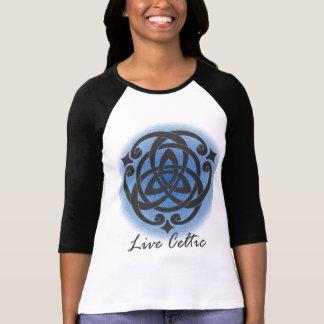 T-shirt Pièce en t celtique vivante - bleu
