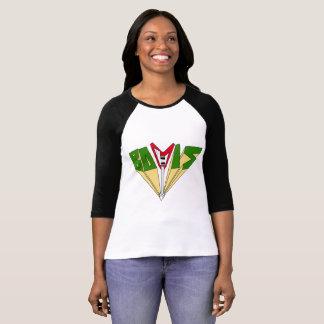 T-shirt Pièce en t classique de base-ball de Bovis
