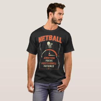 T-shirt Pièce en t courageuse de net-ball de foyer