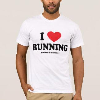 T-shirt pièce en t courante d'amour drôle d'I