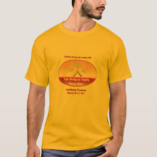 T-shirt Pièce en t croisée de croisière de groupe de