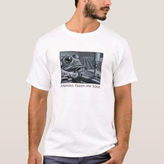 T-shirt Pièce en t d'agriculteur de crapaud de tracteur