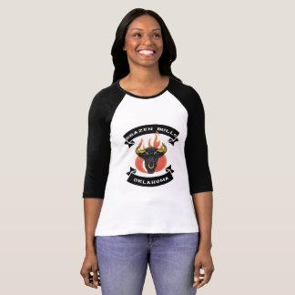 T-shirt Pièce en t d'airain de raglan de taureaux