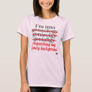 T-shirt Pièce en t d'amateur de généalogie (femmes)