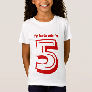 T-Shirt Pièce en t d'anniversaire pour vieux de cinq ans