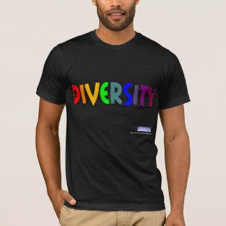 T-shirt Pièce en t d'arc-en-ciel de diversité