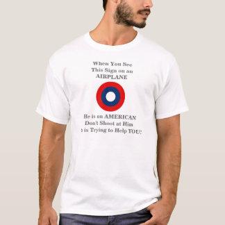 T-shirt Pièce en t d'avertissement de tract de service