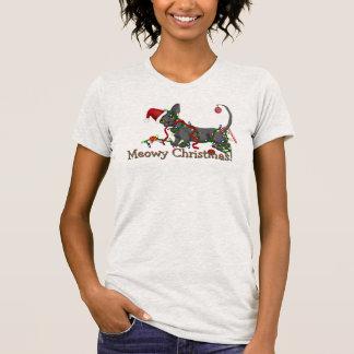 T-shirt Pièce en t de bambino de Noël de Meowy