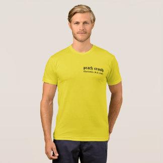 T-shirt Pièce en t de barzoï d'écrasement de pêche