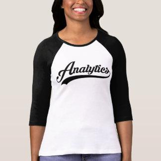 T-shirt Pièce en t de base-ball d'analytique