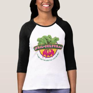 T-shirt Pièce en t de base-ball d'Avril*Cultual
