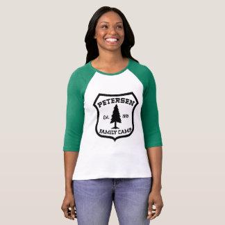 T-shirt Pièce en t de base-ball de camp de famille de