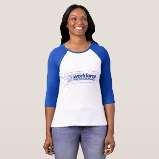 T-shirt Pièce en t de base-ball de dames