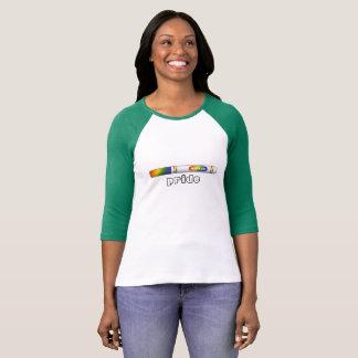 T-shirt Pièce en t de base-ball de fierté de marqueur pour