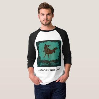 T-shirt Pièce en t de base-ball de guerrier de Spoonie des