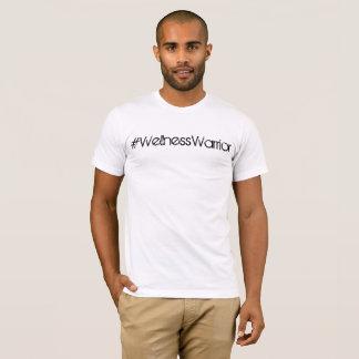 T-shirt Pièce en t de base blanche du #WellnessWarrior des