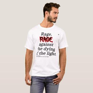 T-shirt Pièce en t de base de citation de Dylan Thomas des